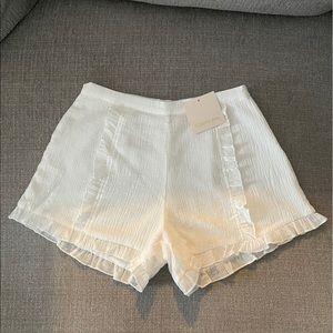 Showpo - white shorts - size 6 - BNWT